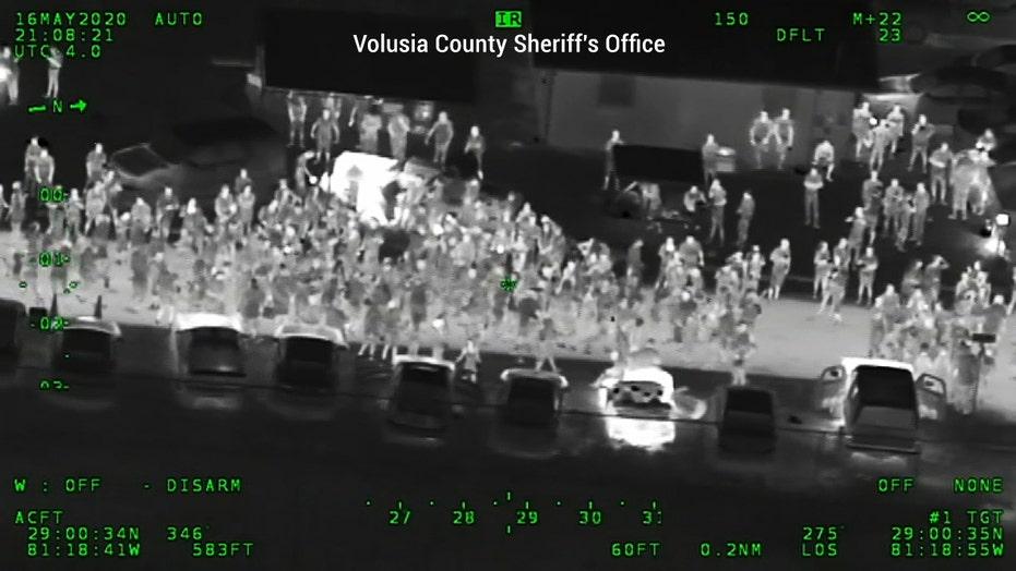 WATCH: Police break up massive block party in Florida