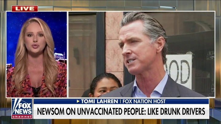 Tomi Lahren slams Newsom for comparing unvaccinated people to drunk drivers