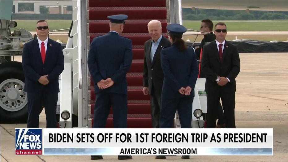 Biden sets off to Europe for G-7 summit for first foreign trip since taking office