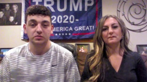 Teen says Trump flag got him kicked out of class