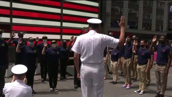 Future Sailors and Marines enlist in Times Square