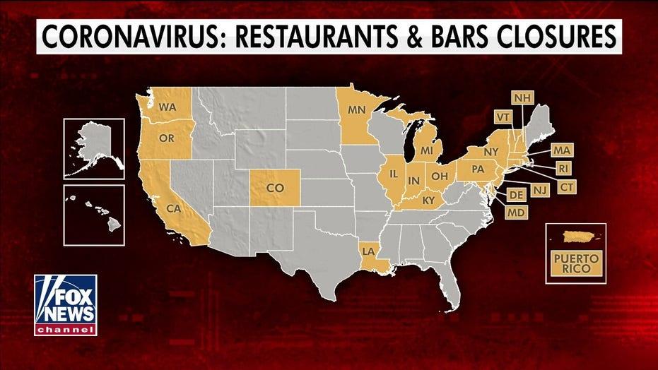 States close bars, restaurants in effort to slow coronavirus pandemic