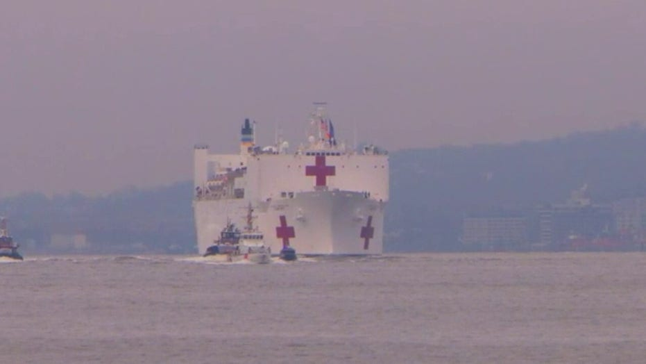 USNS Comfort enters New York Harbor on mission to ease burden on NYC hospitals
