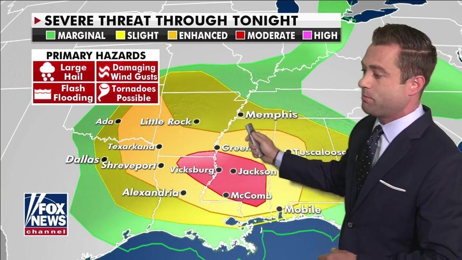 National weather forecast: Severe weather continues across South, eastern US sees above-average temps