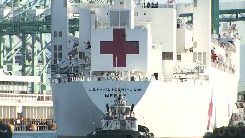 Trump to send off 'stocked up' Navy hospital ship to New York for coronavirus response