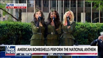 American Bombshells perform the national anthem