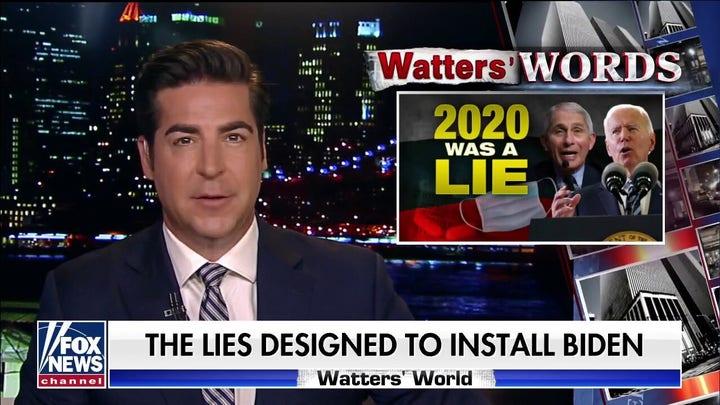 Jesse Watters: Liberal media 'broke itself' pushing lies to ensure a win by Biden