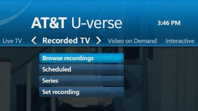 AT&T U-Verse DVR Menu