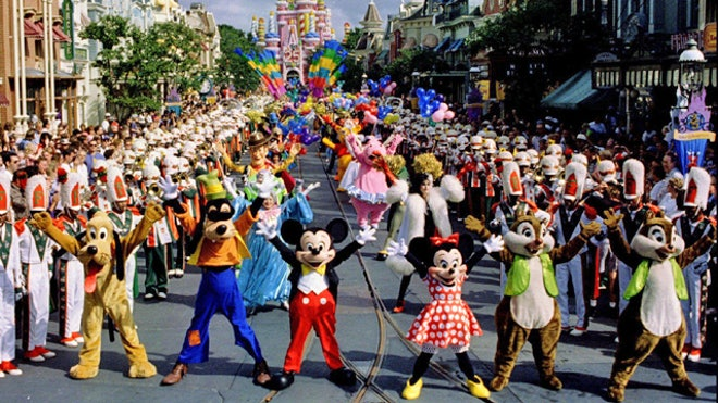 Parade at Disney World
