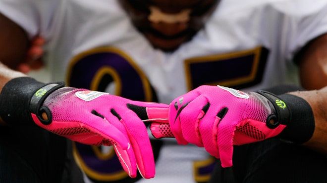 breast cancer awareness NFL gloves