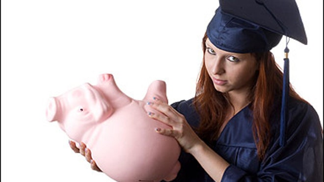 College Loan Empty Piggy