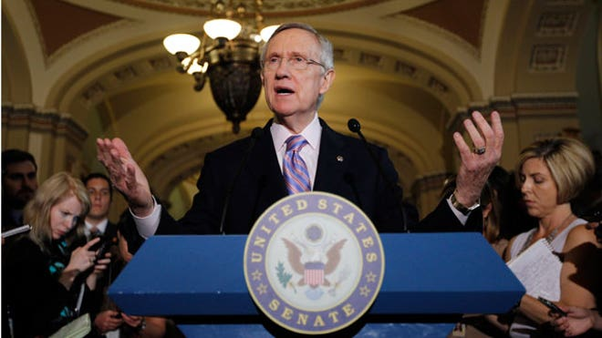 harry reid speaking senate