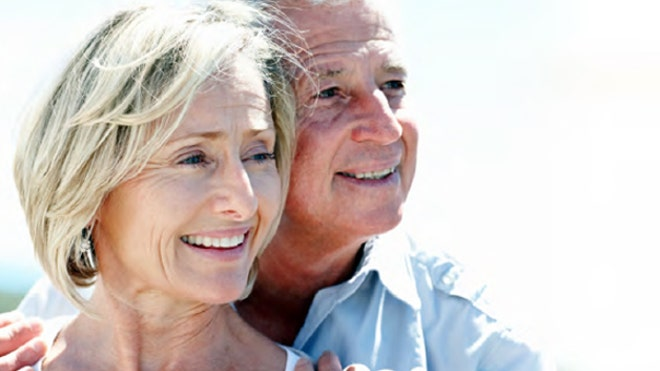 Retirement Couple Closeup FBN