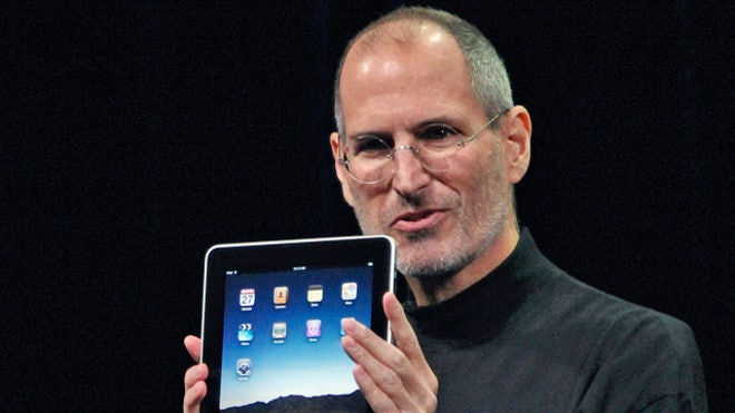 Apple CEO Steve Jobs With iPad