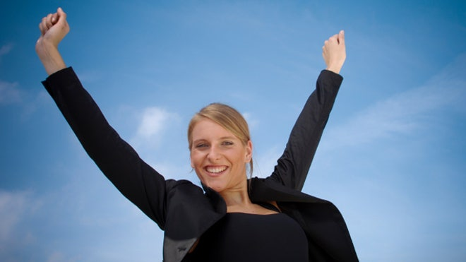 Successful Woman Business
