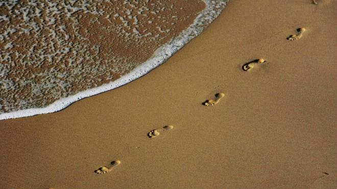 Footsteps Sand Beach Vacation Travel