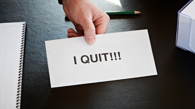 Quit career office boss employee