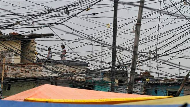 Tangled Electric Power Cables India