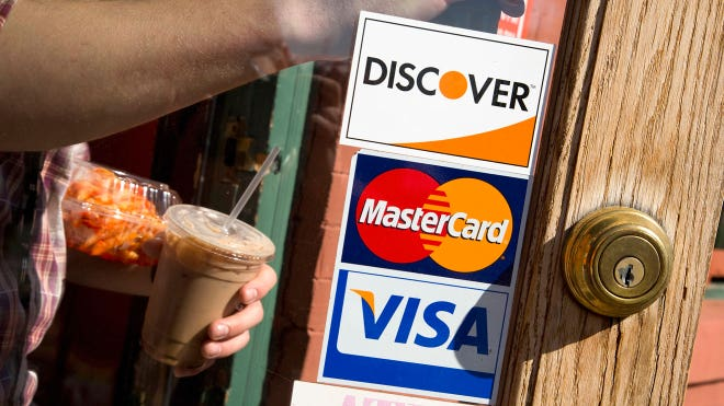 credit cards store visa mastercard discover shopping