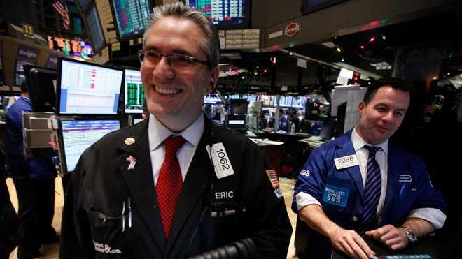 NYSE Traders Smiling (Rally)
