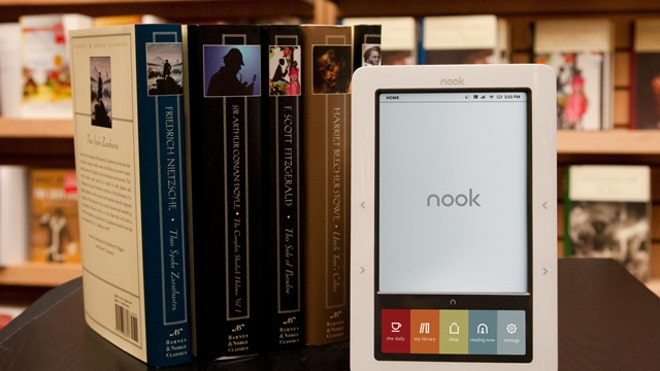Barnes and Noble Nook with Paperbacks