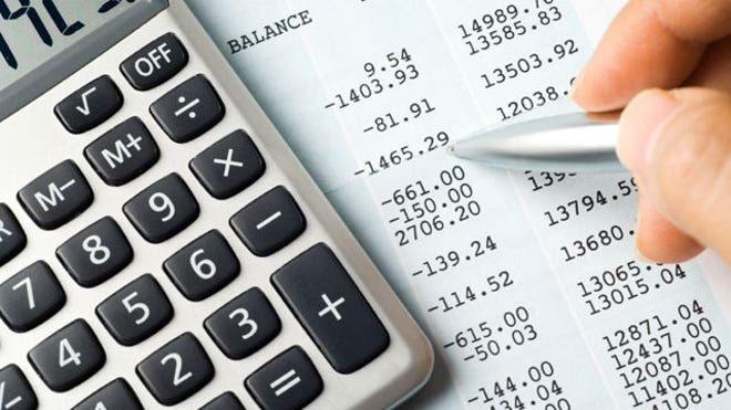 Calculator-Balance-Sheet-Numbers