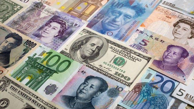 Various-World-Currencies-Dollar-Yuan-Yen