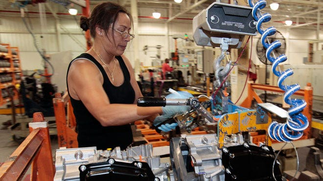 Ford Assembly Worker in Factory