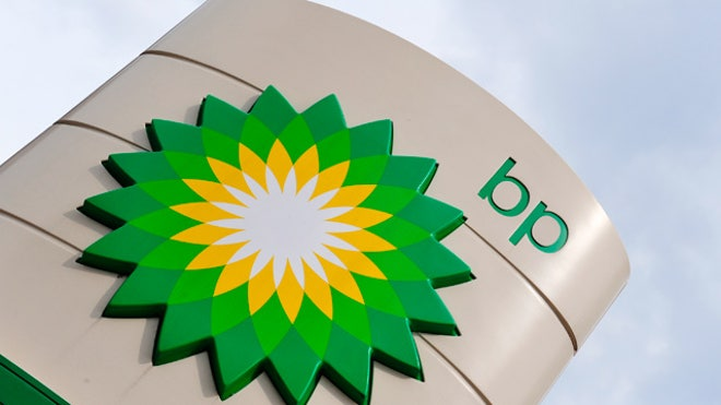 BP Logo Sign Gas Station