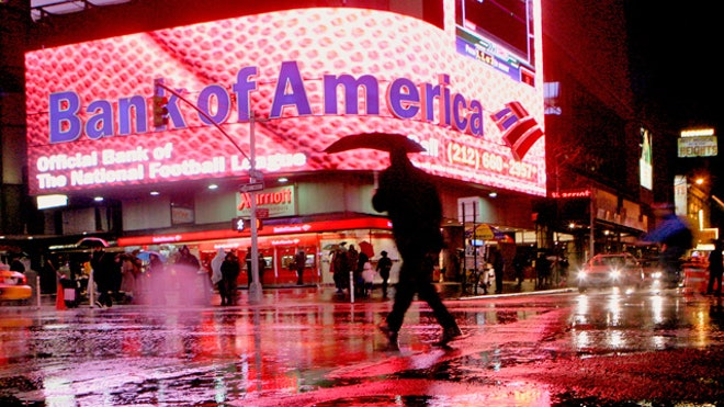 Bank of America New York City Branch Raining