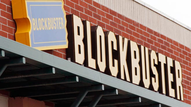 Blockbuster movie rental store