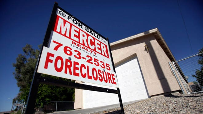 Foreclosure Sign Outsid