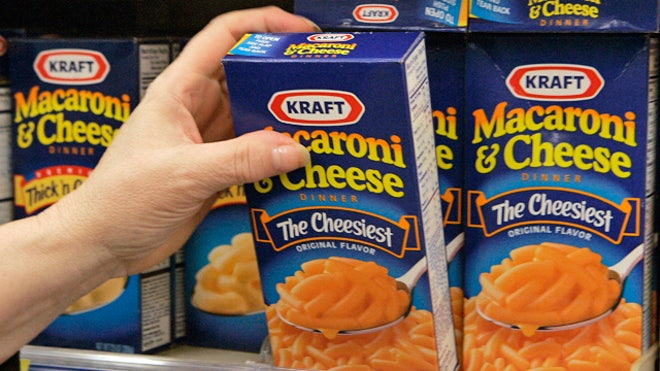 Kraft Macaroni Cheese Boxes Supermarket