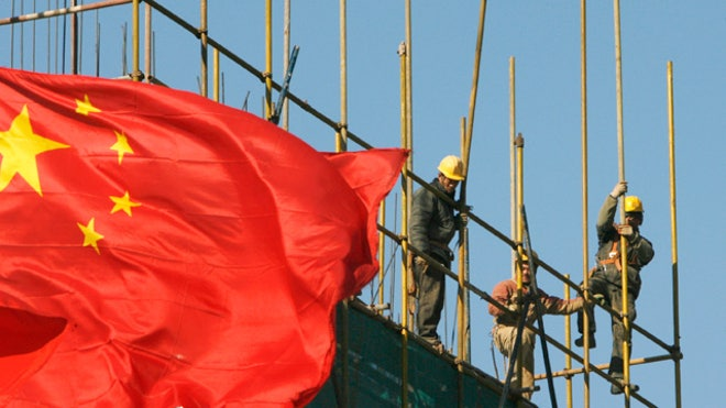 Workers Labor China Flag