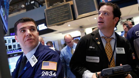 Wall Street fell Monday, but ended off session lows, as uncertainty about China's growth injected caution into the markets.