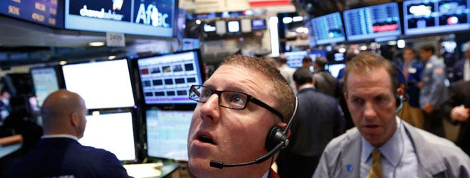 U.S. stocks closed lower on Friday as data showed U.S. economic growth slowed more sharply than initially thought in the fourth quarter, but the SP  posted its best monthly performance since October .