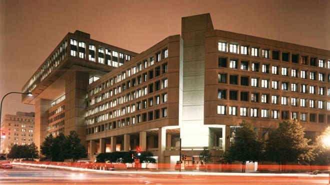 FBI-Headquarters-at-Night