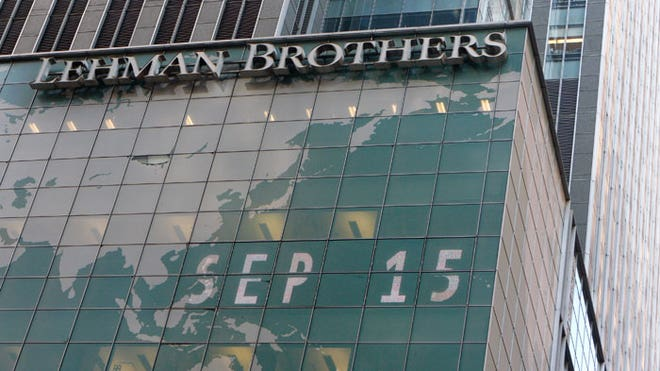 Lehman Brothers Headquarters on Sept. 15
