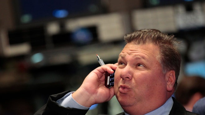 NYSE Trader (Thinking || Holding Phone)
