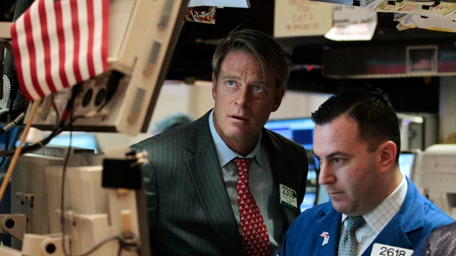 NYSE Trader Stares Pensively