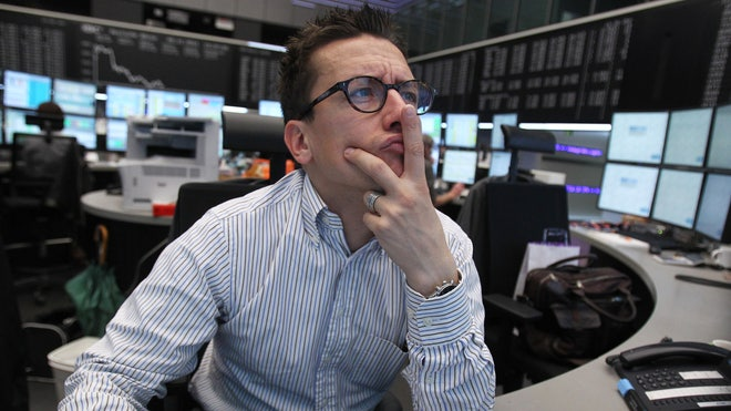 Dax/Frankfurt Trader Deep in Thought (Thinking)