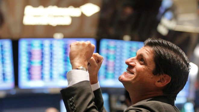 NYSE Trader Cheering / Happy