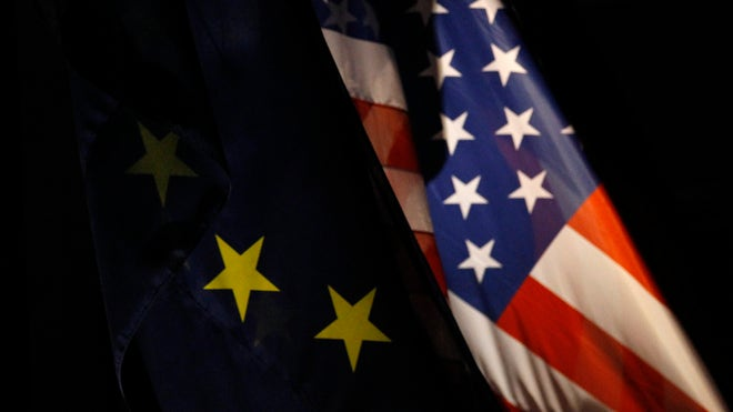 American / European Union (EU) Flag