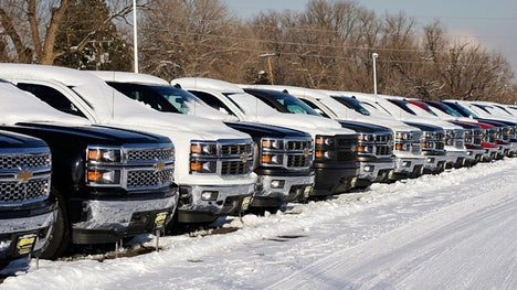 Automakers reported an uptick in February sales amid another strong month for trucks and sport-utility vehicles.