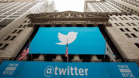 The microblogging service surged past Wall Street's Q estimates as it logged a two-cent EPS gain while analysts were looking for a one-cent loss. Shares jumped more than % in after-hours action.  Twitter Posts Q Beat | Better Buy: Twitter vs. Facebook