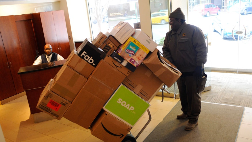 delivery man, UPS, shipping, online shopping, delivery, shipping