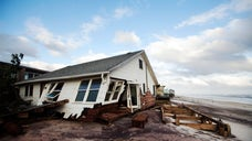 According to a survey from the New York Federal Reserve, one-third of firms in areas heavily affected by Superstorm Sandy reported net losses one year after the storm.