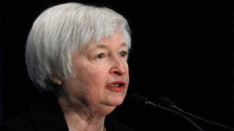 The Fed chief said on Friday if the economic recovery continues as expected, the central bank could begin raising rates at 'some point this year.'
