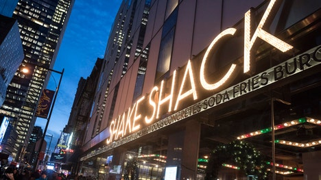 The New York-based burger chain skyrocketed more than % in its trading debut on the New York Stock Exchange Friday.