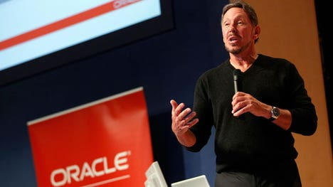 Oracle's CEO Larry Ellison will step down. Safra Catz and Mark Hurd will assume the role as co-CEOs. Oracle posted fiscal Q earnings per share of  cents on revenues of $. billion, missing views.